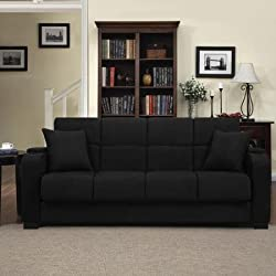 Tyler Microfiber Storage sofa bed- best sofa for back support