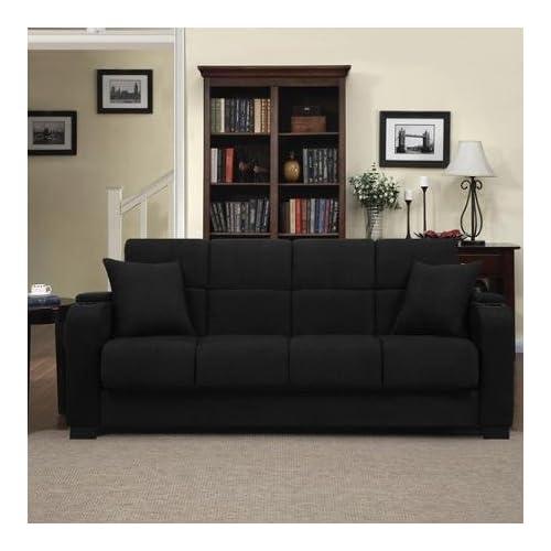 Outstanding Amazon Com Tyler Microfiber Storage Arm Convert A Couch Evergreenethics Interior Chair Design Evergreenethicsorg