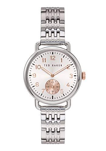 Ted Baker Hannahh 34 mm Women's Silver-Tone Stainless Steel Watch BKPHHF901