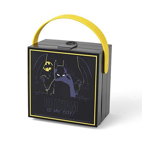 Boîte à lunch LEGO Batman avec poignée, boîte de rangement portable, noire