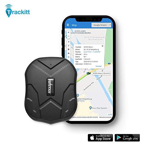 TRACKITT GPS Tracker met Magneet - LIVE VOLGEN Van Voertuigen/Auto/Motor/Boot | Waterdicht | Krachtige accu tot 90 dagen standby | Voor IOS En Android