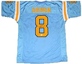 Troy Aikman Autographed Signed Memorabilia Ucla Bruins #8 Blue Jersey - JSA Authentic