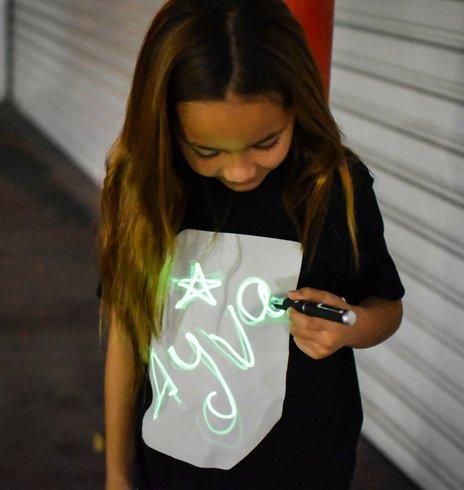 Illuminated Apparel Interactive Glow in The Dark T-Shirt Black (5-6 Years)