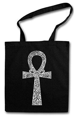 ANCH Hipster Shopping Cotton Bag - Kreuz ?gypten ?gyptisch Ankh Henkelkreuz Lebensschleife Nilschl?ssel koptisches Kreuz OT