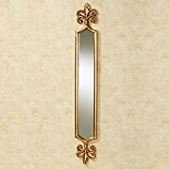 "Flaunt your regal style with the Royalton Fleur-de-Lis Wall Mirror Panel. This traditional resin wall accent has fleurs-de-lis at the top and bottom and an antique gold finish. Measures 7""Wx1""Dx51""H. Wall mirror panel features fleurs-de lis Tradition..."