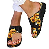 Vedolay Womens Slippers with Arch Support Womens Sandals Platform Sandal 2020 New Sunflower Comfy Shoes Summer Beach Travel Shoes Fashion Sandal Ladies Shoes