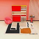 Alfombra moderna para salón (200 x 300 cm), para dormitorio de niños, de pelo corto, para sala de grandes cuadros de cama (alfombra D43)