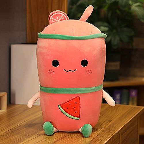 TNSYGSB Botella de bebida de felpa colorida con zumo de frutas rellenas con aguacate, fresa, limón, comida Plushie, regalo para niños, 50 cm, felpa Minecraft (color: rojo, tamaño: 50 cm)