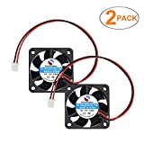 SoundOriginal 2pcs 4010 Brushless DC Cooling Fan 12V 0.06A 40x40x10mm Speed 6800 RPM Fans for computer case 3d Printer Humidifier and Other Small Appliances Series Repair Replacement