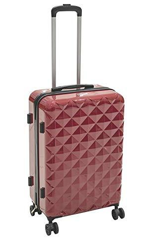 Galileo Casa, Diamond Maleta pequeña de policarbonato y ABS unisex para adulto, rojo, medidas: 35 x 21,5 x 57 cm