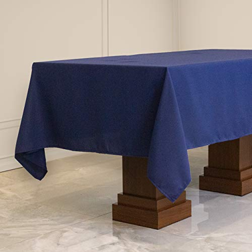 Kadut Rectangle Tablecloth (60 x 102 Inch) Navy Blue Rectangular Table Cloth for 6 Foot Table | Heavy Duty | Stain Proof Table Cloth for Parties, Weddings, Kitchen, Wrinkle-Resistant Table Cover