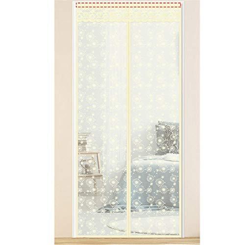 Xervg BalkontüR Heben Sie den Türvorhang an, um Mücken, Insekten und Staub zu vermeiden-180 * 220 cm_Schneeflocke