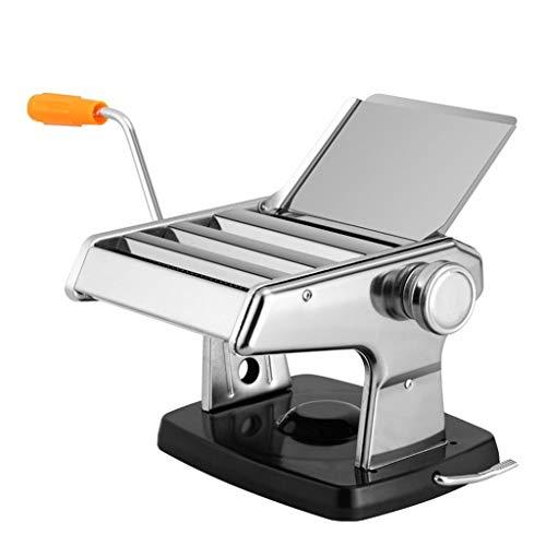 Nudelmaschine Gourmet Nudelmaschine manuellen Nudel-Maschine Edelstahl Einstellbare Stärkeeinstellungen Nudeln Maschine mit Handkurbel, Perfekt for Spaghetti, Fettuccine, Lasagne oder Dumpling Skin