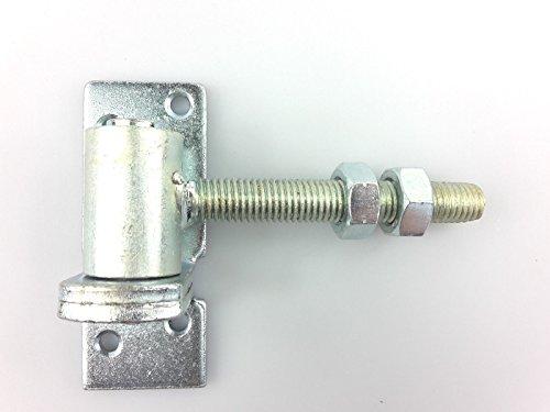Gartenartikel24 Torangel verstellbar 2-Teilig Kloben Dorn Ø 16 mm M14 Torband Scharnier Anschraubplatte Verzinkt