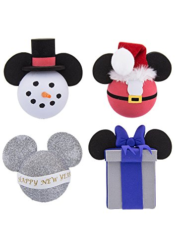 Disney Parks Christmas New Year Holiday Car Antenna Pencil Topper Set of 4