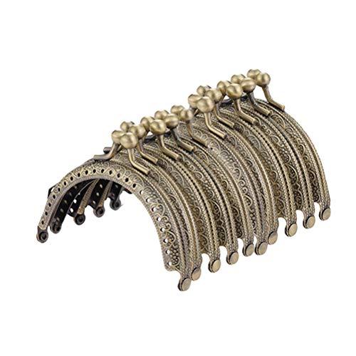 SUPVOX Metallbogen-Rahmen-Kuss-Haken-Verschluss-halbkreisförmige Geldbeutel-Taschen-Rahmen-Verschluss-Verschluss-Bronze-Ton DIY Handwerks-Rahmen-Kuss-Verschluss-Verschluss 10PCS