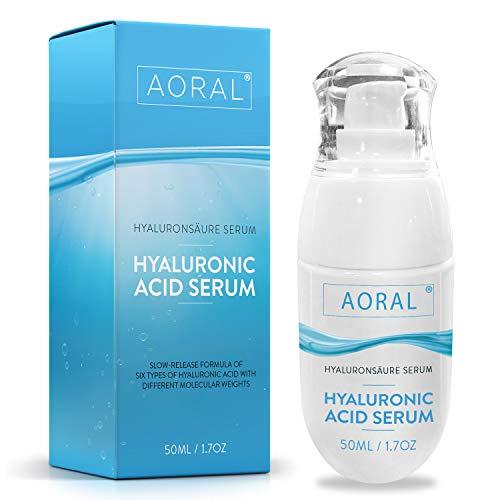 6-Komplexer Molekularer Hyaluronsäure Serum Hochdosiert, Testsieger 2020, Bestes Neues BIO Antifalten Anti-Aging Creme für Gesicht und Auge, Hyaluron Feuchtigkeitscreme Microneedling Geeignet