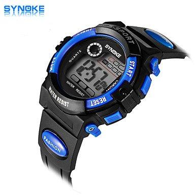 XKC-watches Herrenuhren, Synoke Männer Runde Zifferblatt beiläufige Uhr PU-Band elektronische Uhr Mode-Armbanduhr (Farbig Sortiert)