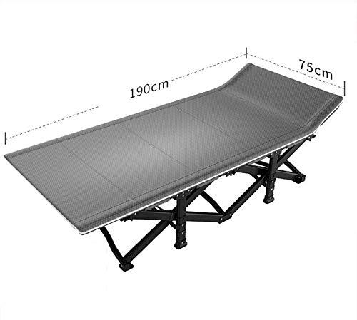 Tumbona Cama plegable para acampar Cama de viaje para exteriores Cama plegable ultraligera para acampar Pesca Cama portátil para dormir individual Interior Pausa para el almuerzo Carga de hasta 200 k