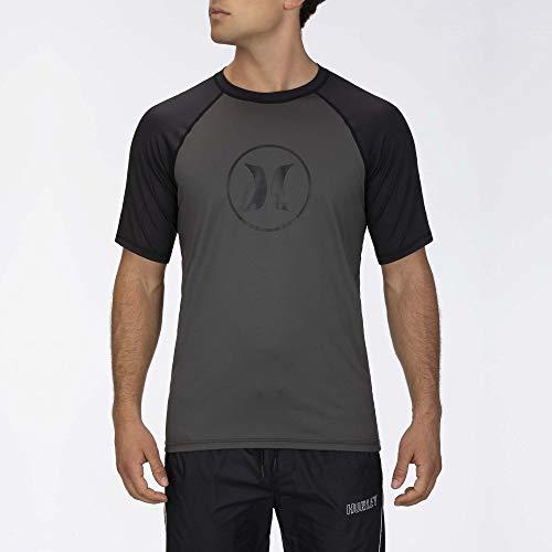 Hurley Herren Lycra M Icon Raglan Surf Shirt S/S, Iron Grey, S, CJ6751