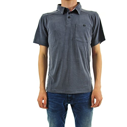Columbia Polo à Manches Courtes Homme, SUN RIDGE II NOVELTY POLO, Modal/Polyester, Noir (India Ink), Taille: XL, AM6812