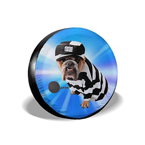 JONINOT Cubierta de neumático de Repuesto Disfraz de Perro Vestido de Rayas para Mascotas Remolque para Cachorros RV SUV Cubiertas Universal