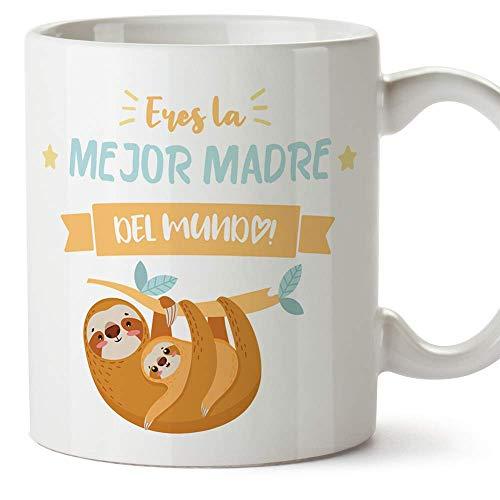 """MUGFFINS Tazas para Mamá –""""Eres la mejor madre"""" (Modelo 3) – Regalos para el día de la Madre/Desayunos originales"""