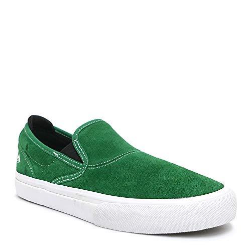 [エメリカ] SHOES シューズ スニーカー WINO G6 SLIP ON 緑/白/黒 GREEN/WHITE/BLACK スケートボード スケボー SKATEBOARD 26.5cm,-