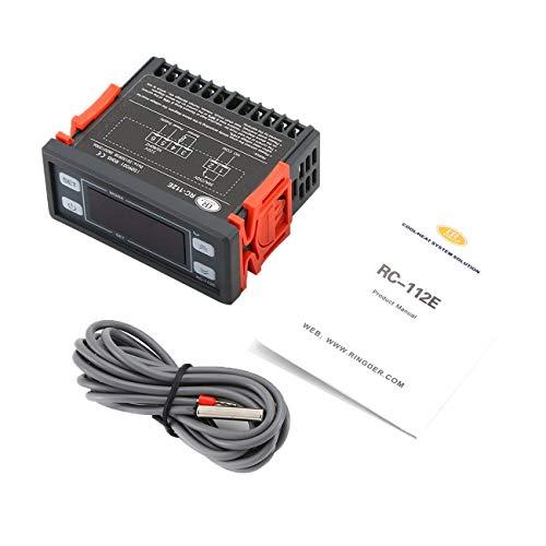 Ashley GAO RC-112E Controlador de Temperatura Digital Termóstato Microordenador Termorregulador Refrigerador Termopar Controlador