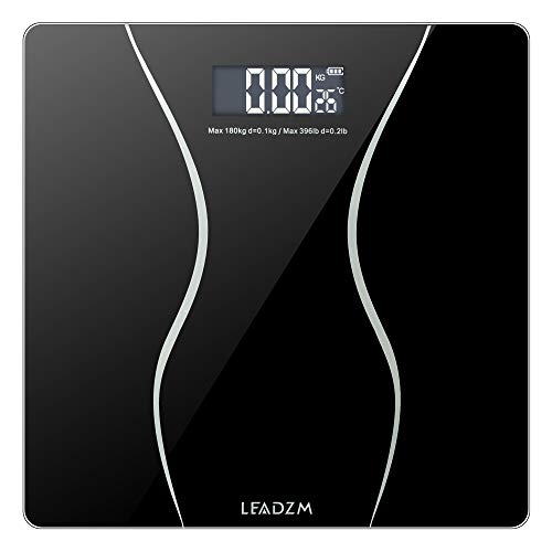 Body Weight Bathroom Scale Digital Fat Mechanical Scale Non Slip Accurate Electronic Weighing Scale with Automatic Shutdown Function (11 x 11 x 1 inches)
