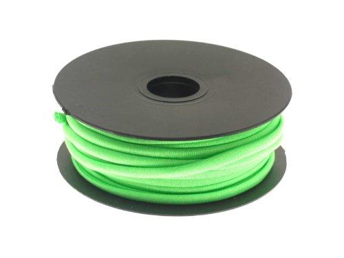 Creative-Beads Stretchband elastisch gevoerd 5 mm rond poly/Elastan 1,00 m gesneden, om te decoreren knutselen verpakt voor sieraden kettingen armbanden etc. 21 Peridot