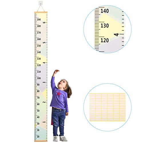 medidor niños pared ZoomSky para medidor niño de estatura de medidor pared infantil de gráfica de altura colgante en la habitación, sala de pared