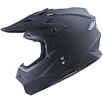 Medium Gloss Black Includes Goggles MMG 27 Motorcycle Helmet Off Road MX ATV Dirt Bike Motocross UTV