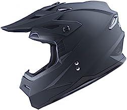 New DOT Youth Kids Motocross Motorcross MX BMX Bike Helmet White Spider Black