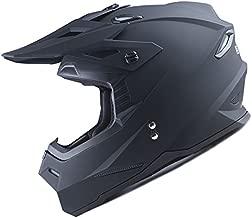 1Storm Adult Motocross Helmet BMX MX ATV Dirt Bike Helmet Racing Style HF801; Matt Black S (20.9/21.3 Inch)