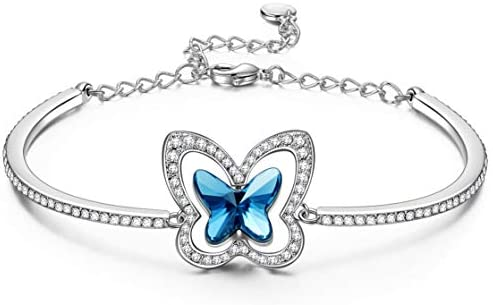 Personalised SanaBelle\u2122 13th Birthday 925 Sterling Silver Butterfly Bracelet Various Sizes