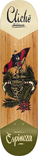 Cliche Skateboard-x SWANSKI Daniel Espinoza 20,3cm breit Pro Skateboard Deck + Griptape