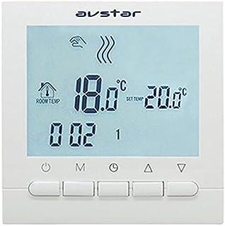 AVStar - Termostato Inteligente programable para calefacción de calderas de Gas - Pantalla LCD para Facilidad de Control y...