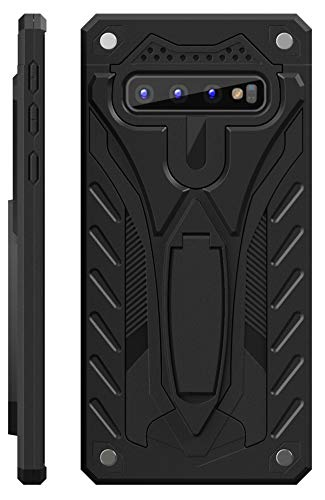 Kitoo Designed for Samsung Galaxy S10 Case with Kickstand, Military Grade 12ft. Drop Tested - Black