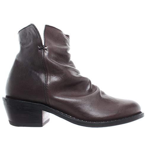 FIORENTINI + BAKER Damen Schuhe Stiefeletten Rusty-9 Rocker Elmo Leder Braun