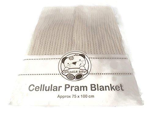 Cellular Coton Landau Couverture Couleur crème 215
