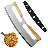 ★〖Perfect Pizza Cutter〗 Features an ergonomic design providing maximum safety, with PP protective cover for safer handling and easy storage. Unlike an ordinary pie slicer or wheel roller cutter, through your pizza crust without pushing aside toppings...