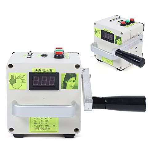 KOIJWWF Generador de manivela a Mano de pequeña Escala 220V, Fuente de alimentación portátil del Cargador de Emergencia Generador de Emergencia de Emergencia de Emergencia