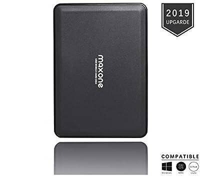 2.5'' Portable External Hard Drives 320GB-USB 3.0 HDD Backup Storage for PC, Desktop, Laptop, Mac, MacBook, Xbox One, PS4, TV, Chromebook, Windows - Black