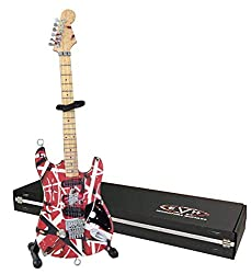 EVH Minature Guitars EVH001 Frankenstein Mini Replica Guitar Van Halen, Red & White