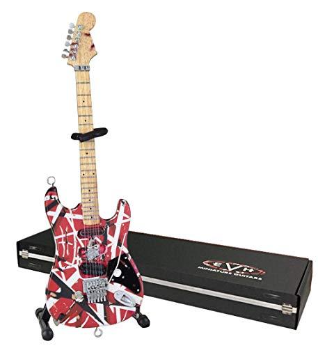 Guitarra en miniatura EVH evh001Frankenstein mini guitarra réplica Van Halen, color rojo y blanco