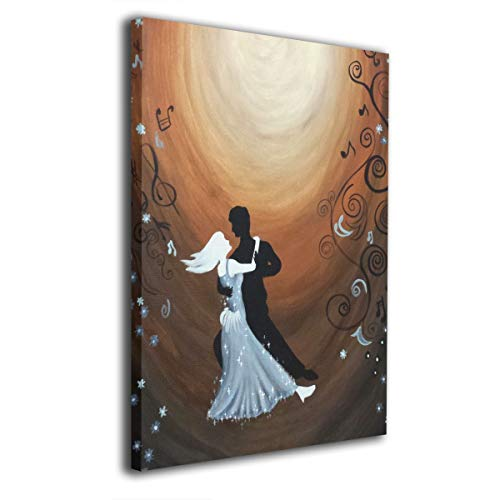 IMAGESPACE ART Bilderpace Kunst Wandbild Gemälde Tanzpaar Musik Druck auf Leinwand, fertig zum Aufhängen für Zuhause, Moderne Dekoration für Wohnzimmer, 40,6 x 50,8 cm, weiß, Einheitsgröße