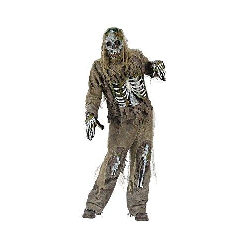 FunWorld 145575 Skeleton Zombie Costume - Noir - standard One-Size
