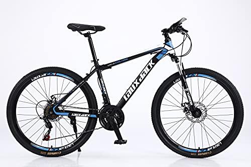 Lauxjack Fahrrad Herren, Damen, und Jungen, 26 Zoll, Shimano 21 Gang, Kettenschaltung, Mountainbike, Blau-Schwarz