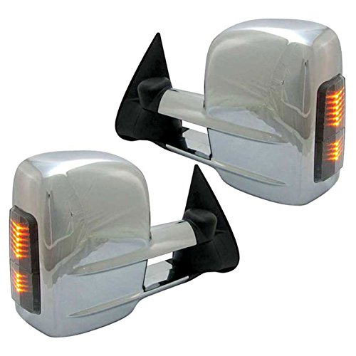 Best Bargain Upgrade Your Auto Premium FX Chrome Power Towing Mirrors w/Signal for 1992-1994 Chevy B...